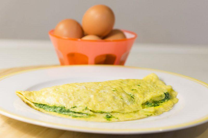 Omelette con bietole e ricotta
