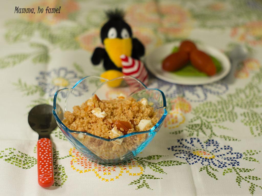Cous Cous caprese - ricetta per bambini