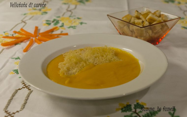 Vellutata di carote – ricetta veloce