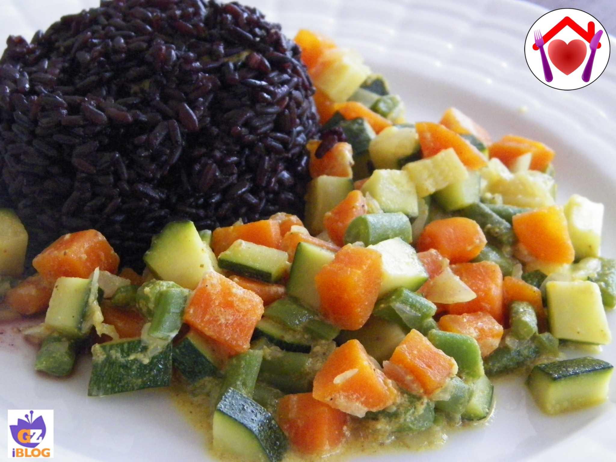 Eccezionale Riso venere con verdure al curry | Le ricette di mamma Lù MH25