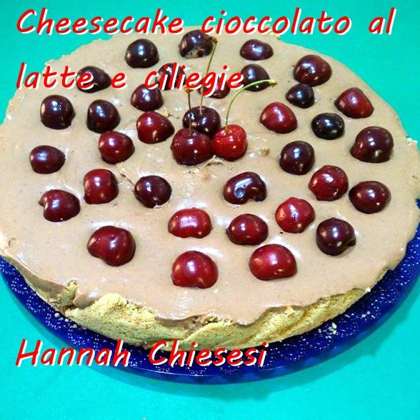 Cheesecake cioccolato al latte e ciliegie - Hannah Chiesesi Mod
