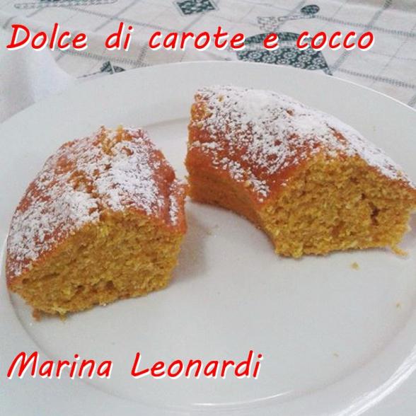 Dolce di carote e cocco - Marina Leonardi mod