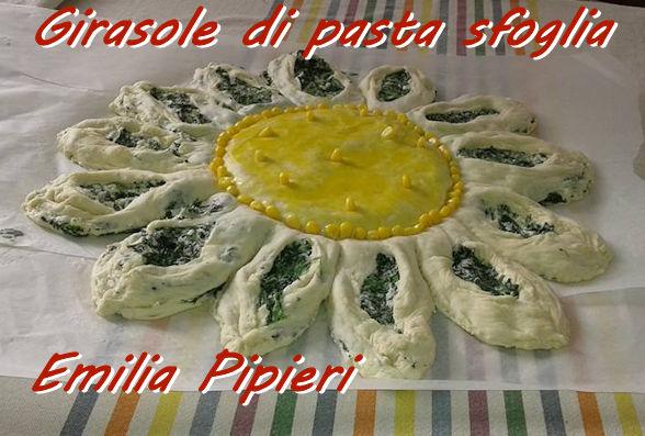 Girasole di pasta sfoglia Emilia Pipieri mod