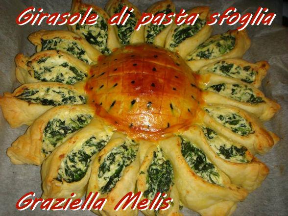 Girasole di pasta sfoglia Graziella melis. modjpg