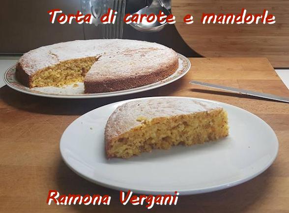 Torta di carote e mandorle Ramona Vergani mod