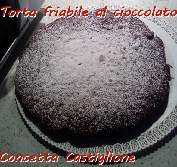 Torta friabile al cioccolato Concetta Castiglione mod