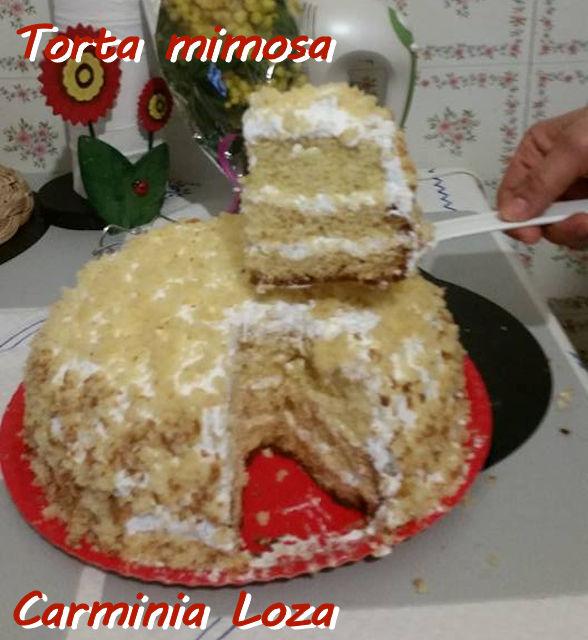 Torta mimosa Carminia Loza mod