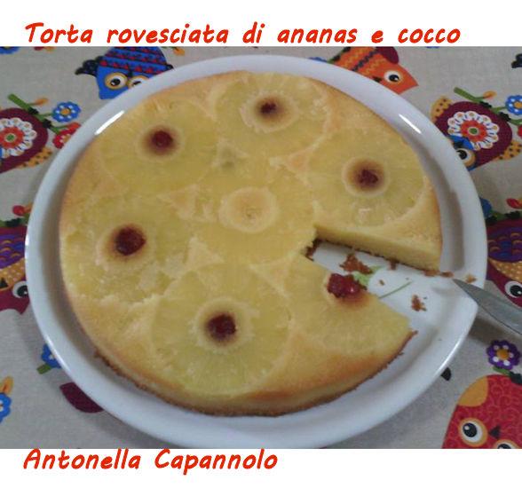 Torta rovesciata all'ananas e cocco - Antonella Capannolo mod