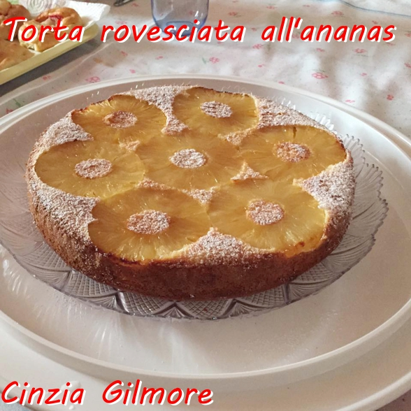 Torta rovesciata all'ananas e cocco - Cinzia Gilmore mod