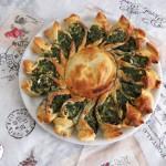 Girasole di pasta sfoglia e spinaci