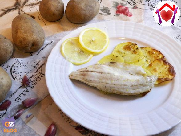 Spigole su letto di patate croccanti ricetta ed - Pesce su letto di patate ...