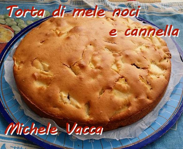 Torta di mele noci e cannella Michele Vacca mod