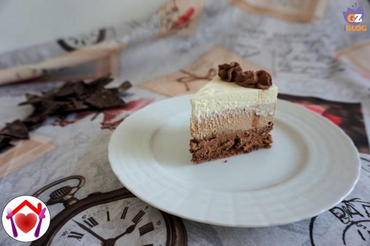 Cheesecake ai 3 cioccolati