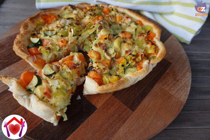 Torta salata di pasta sfoglia e verdure