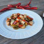 Tofu e peperoni