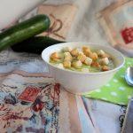 Vellutata di zucchine e tofu