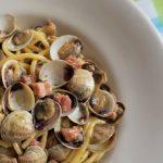 Spaghetti vongole e pancetta