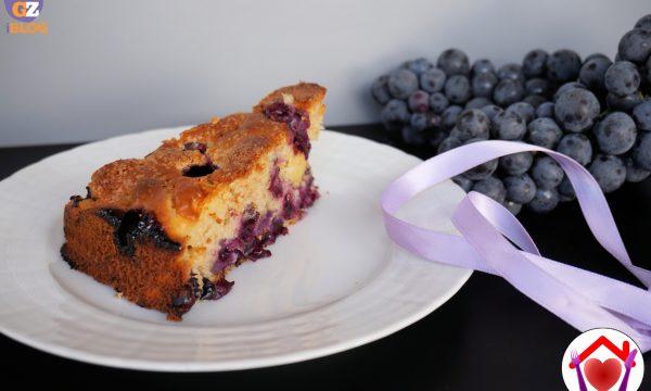Torta integrale mele e uva fragola