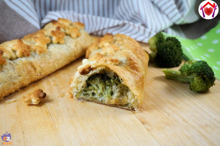 Strudel con zucchine e broccoli