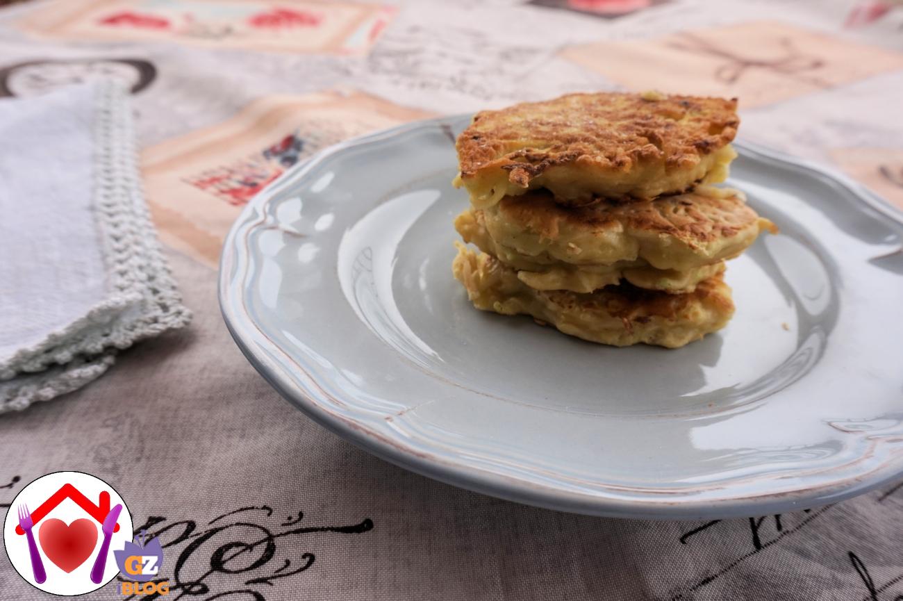 Pancakes salati al cavolo rapa