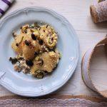 Pasta con ricotta, funghi e zucchine