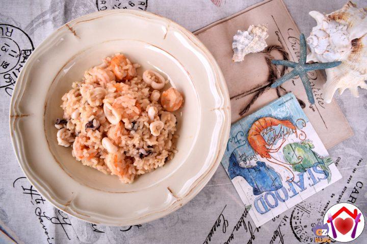 risotto con gamberi e calamari