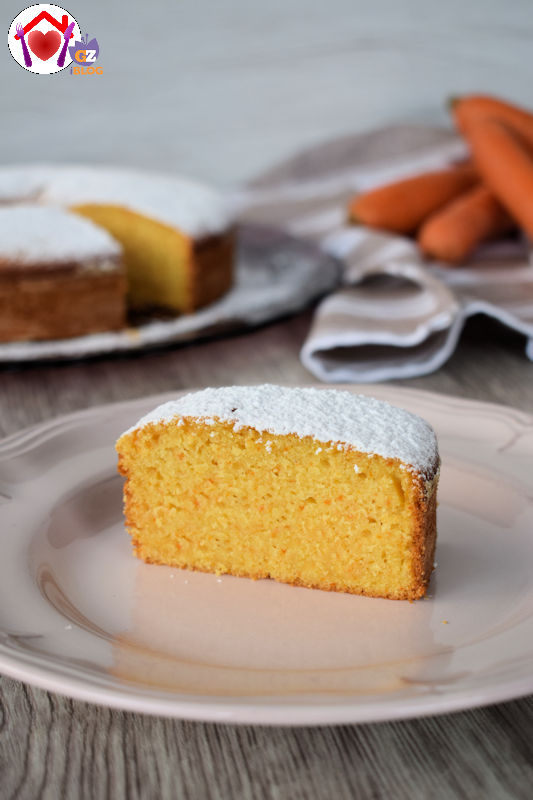 torta di carote vegana