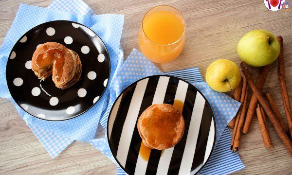 Pancake alla mela vegani