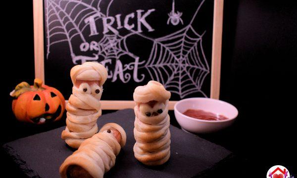 Wurstel mummia per Halloween