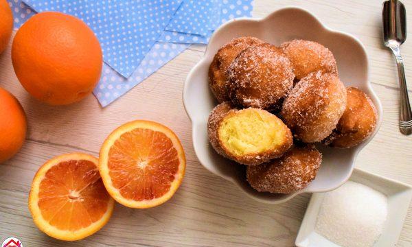 Frittelle veloci all'arancia