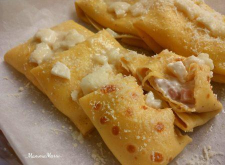 crespelle prosciutto e formaggio spalmabile