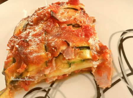 parmigiana di zucchine con prosciutto cotto