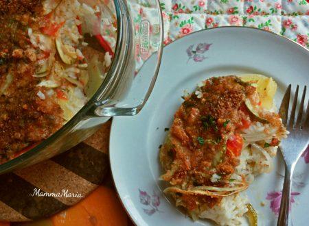 tiella di riso e verdure