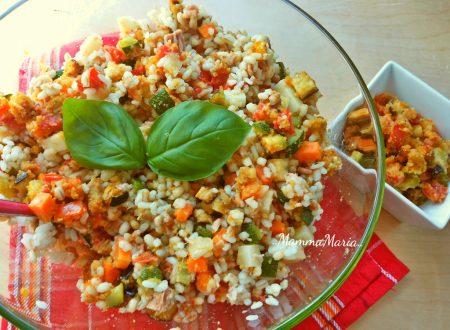 insalata di cereali con verdure gratinate