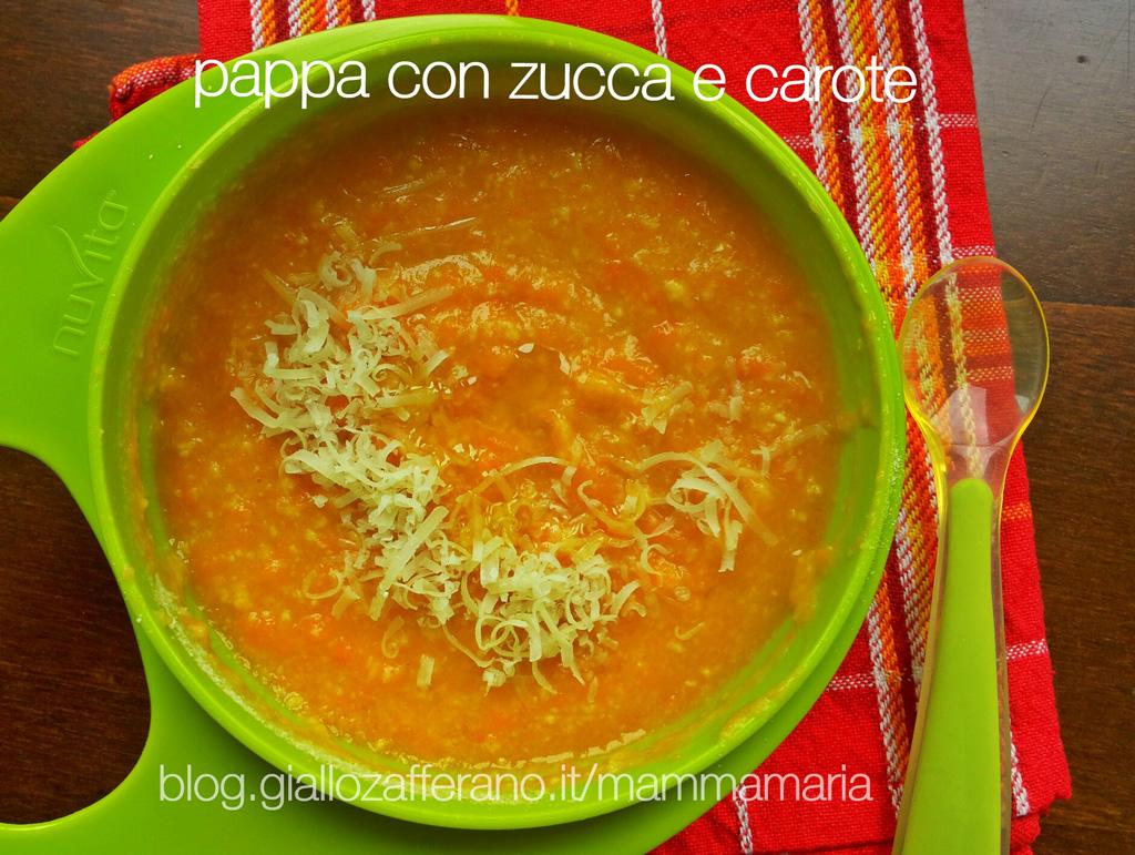 pappa anch'io: pappa zucca e carote