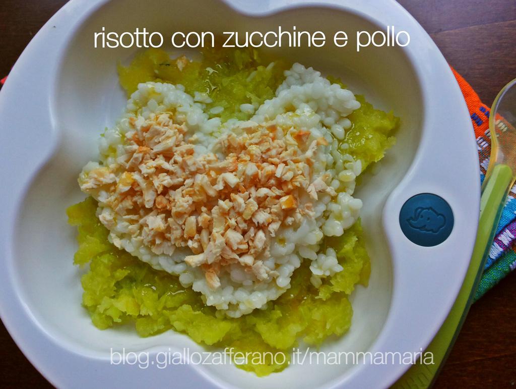 pappa anch'io: risotto con zucchine e pollo