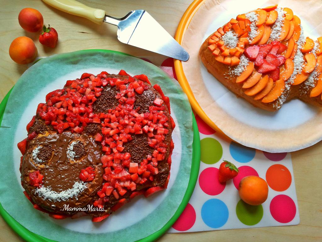 torta coccinella e torta pesciolino