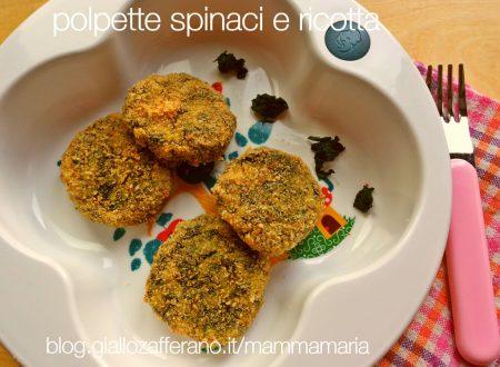 pappa anch'io: polpette spinaci e ricotta