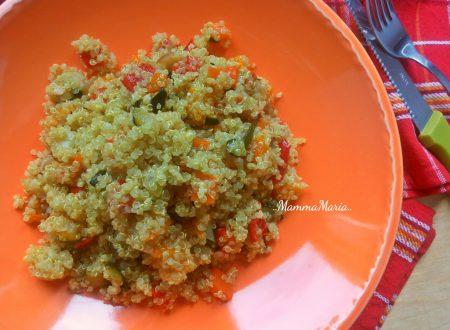 quinoa con verdure arrostite