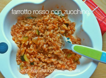 farrotto rosso con zucchine