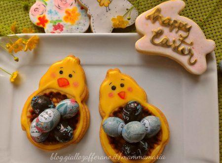 biscotti di pasqua a nido con ovetti di cioccolato