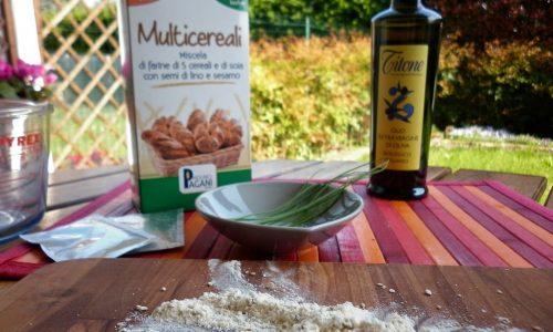 Pane fatto in casa con farina multicereali Molino Pagani
