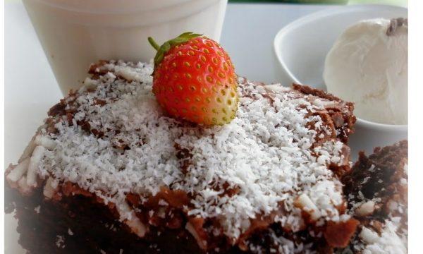 Brownies e frappè alla panna