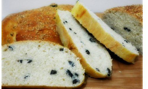Pane con le olive nere