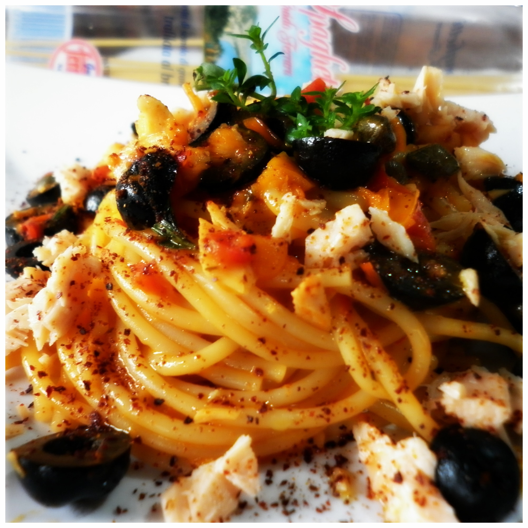 Ricetta pasta olive peperoni
