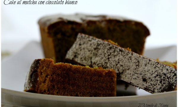 Cake al matcha con cioccolato