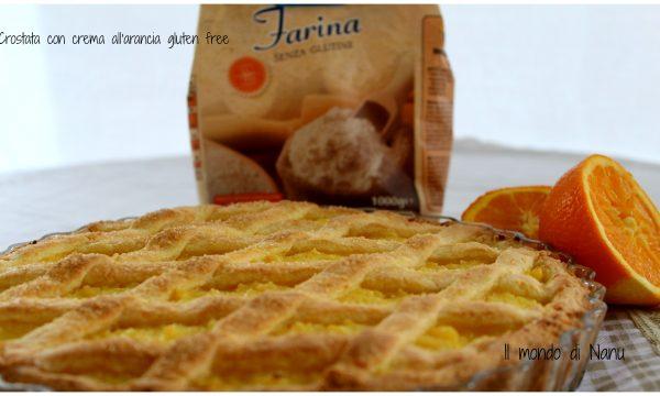 Crostata con crema all'arancia senza glutine