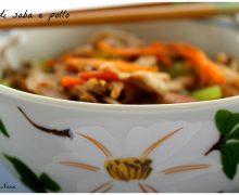Zuppa di soba e pollo