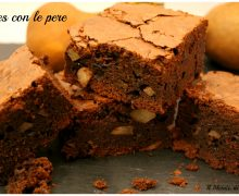 Brownies con le pere