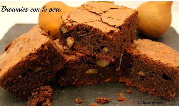 Brownies con le pere